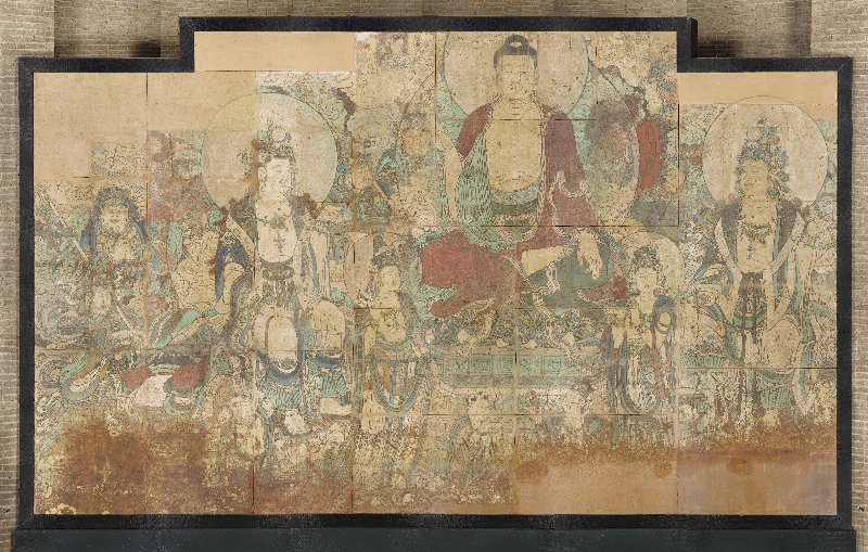 Mural painting c688 collections penn museum for Buddha mural art