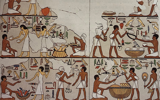 Egyptian market scene from a tomb wall.