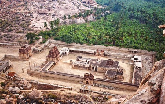 Aerial shot of Vijayanagara