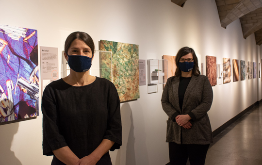 Marie-Claude Boileau and Sarah Linn in the Invisible Beauty exhibition.