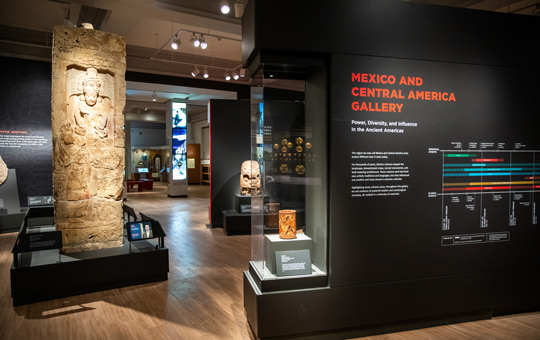 The Mexico and Central America Galleries.