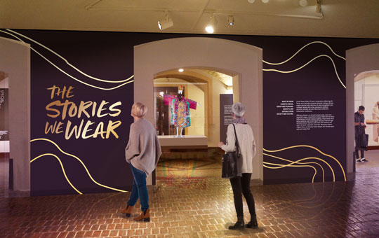 A rendering of what The Stories We Wear exhibition will look like.