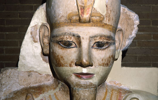 bust from colossal figures in abydos temple