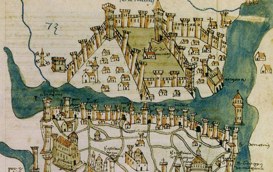 cristoforo buondelmonti map of constantinople