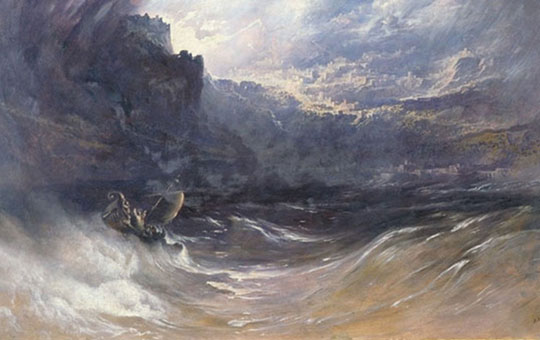 christ stilleth the tempest by john martin