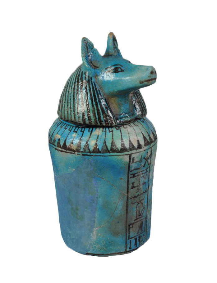 blue canopic jar