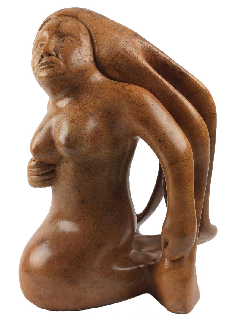 Sculpted Wooden Figure