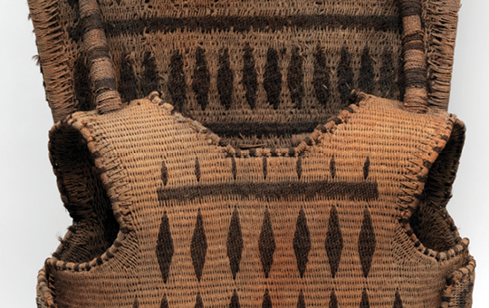 Armor made of woven coconut fibers.
