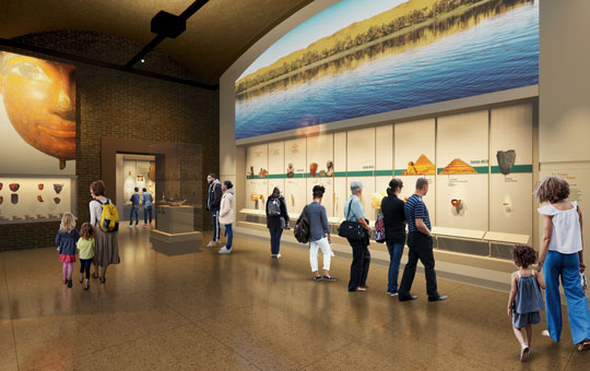 Rendering of what the new Egypt Galleries will look like.
