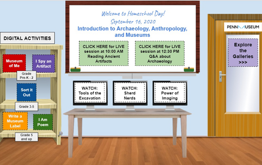 Virtual homeschool classroom