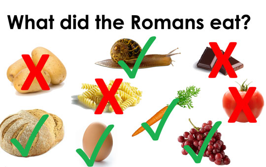 what did the romans eat?