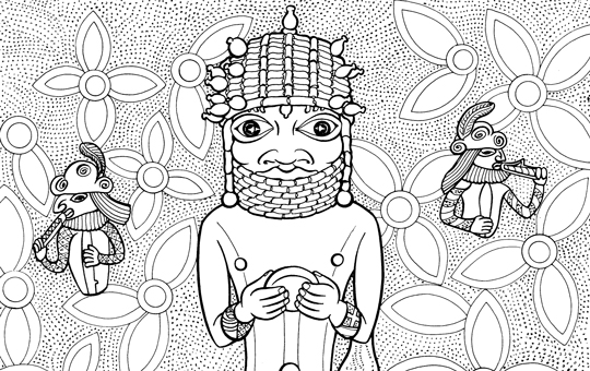 An image of the activity Chief from Kingdom of Benin Coloring Page