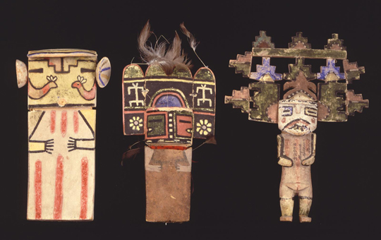 three native north american dolls