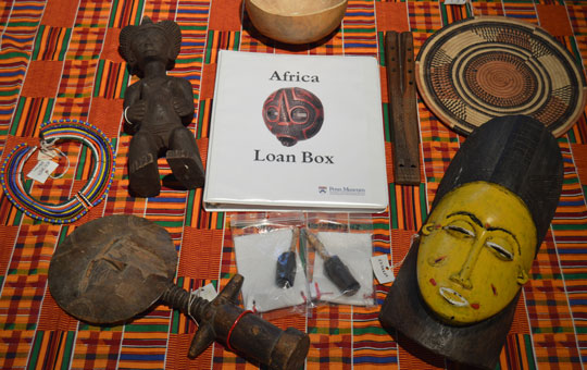 africa loan box with various artifacts