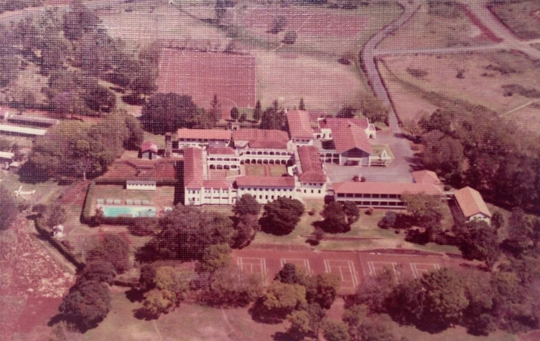 Aerial shot of a convent in Nairobi