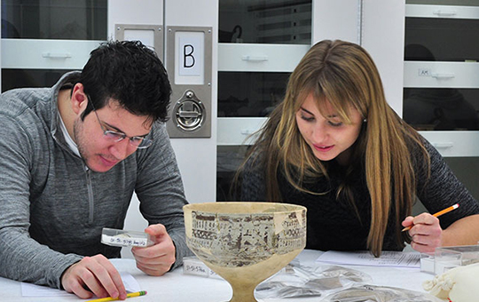 students studying collection object