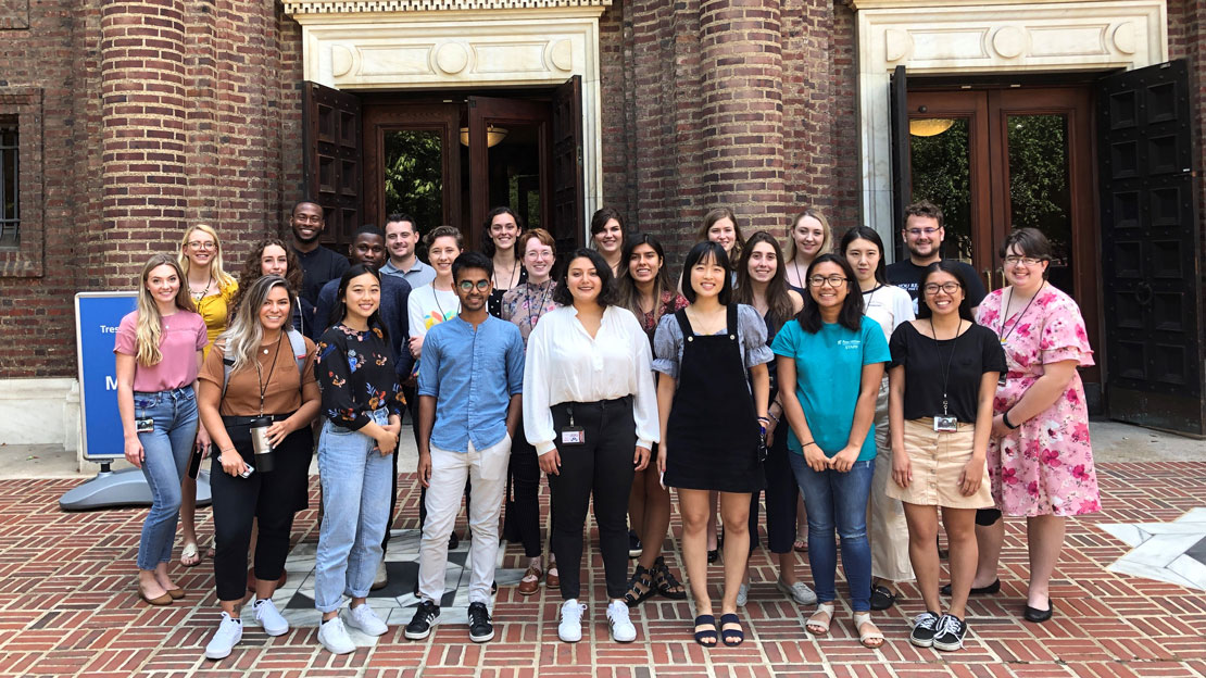 group shot of the 2019 summer interns