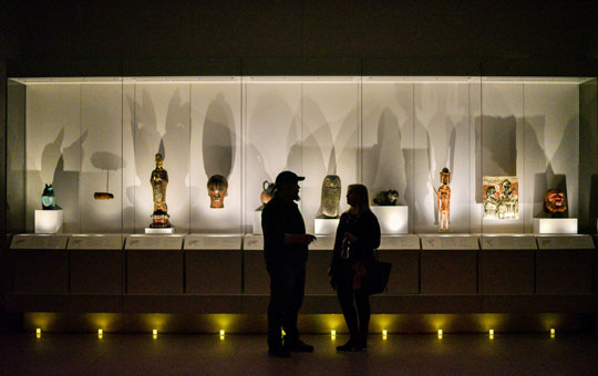 The new Sphinx Gallery at night