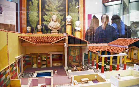 Model of an ancient Roman house