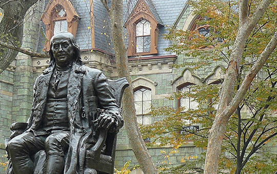 statue on Penn's campus