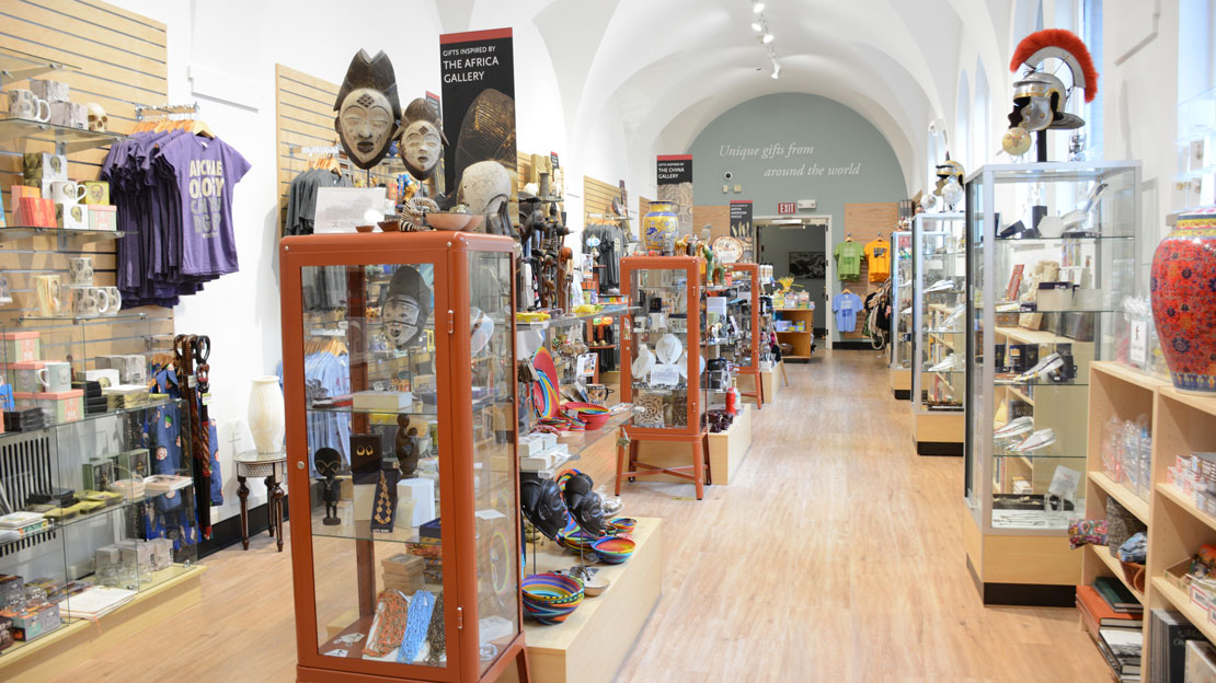 view of the museum shop