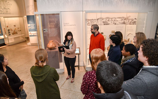 a tour in the galleries
